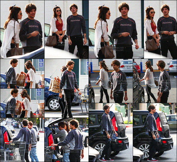 15/01/2016 : Louis a �t� photographi� alors qu'il faisait des courses en compagnie de Danielle CampbellPlus tard dans la journ�e, Louis Tomlinson a �t� aper�u alors qu'il se promenait dans les rues de West Hollywood avec un de ses potes Oliver.