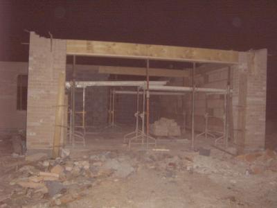 Coffrage du linteau porte de garage de 4 50 metre de for Porte de garage sans linteau