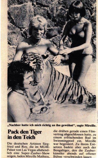 Pack den Tiger in den Teich