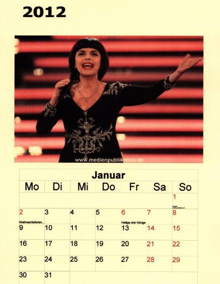 Kalender Mireille Mathieu