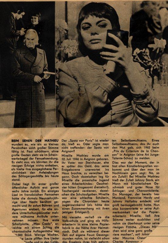 Vier Bemerkungen über Mireille Mathieu ( 2. Teil )