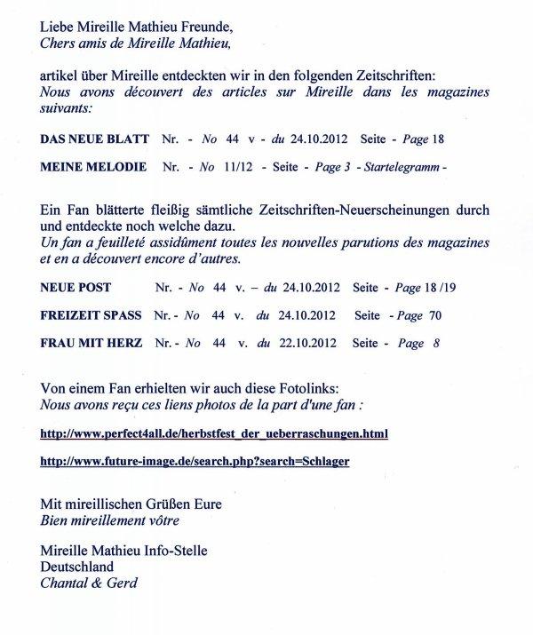 Mireille Mathieu in div. Zeitschriften