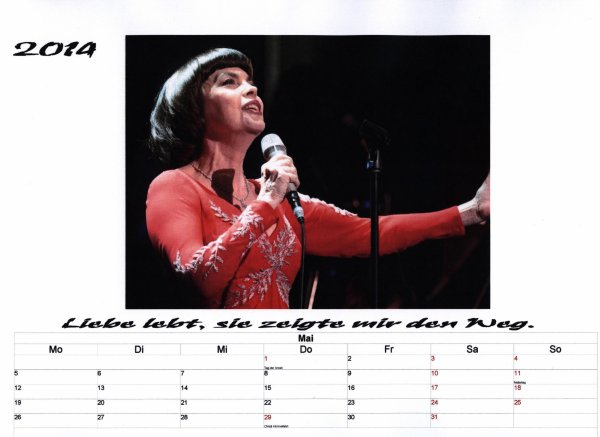 Kalender Mireille   Mai 2014