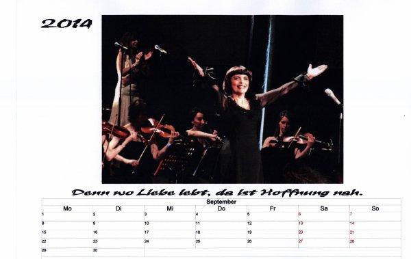 Kalender Mireille  September 2014