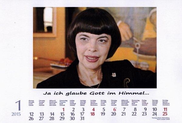 Kalender Mireille Mathieu    Januar 2015