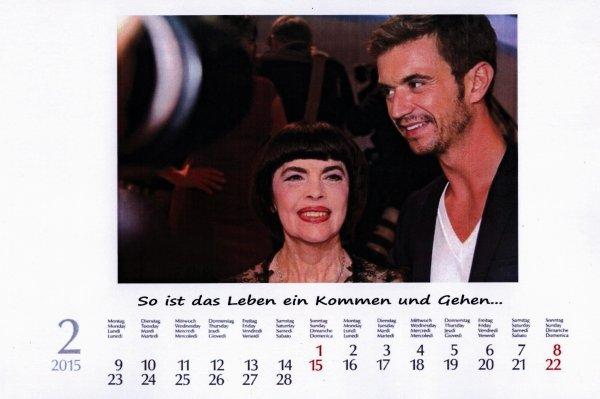 Kalender Mireille Mathieu  Feb. 2015