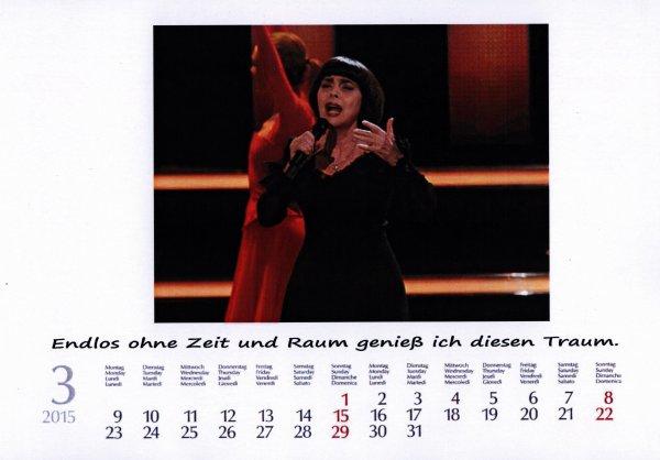 Kalender Mireille    März 2015