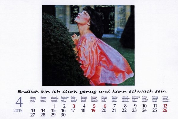 Kalender Mireille   April 2015