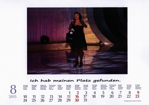 Unser Kalender     August 2015