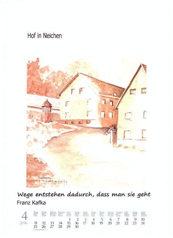Heimatkalender  April 2016