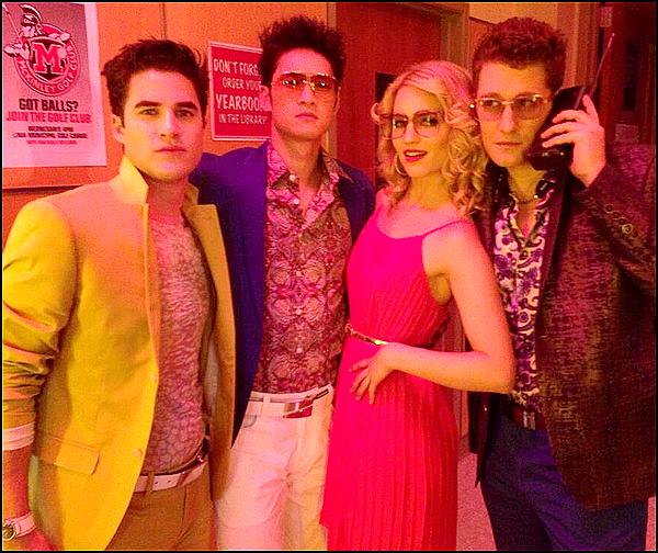 Nouvelles photos de Dianna sur le set de Glee!