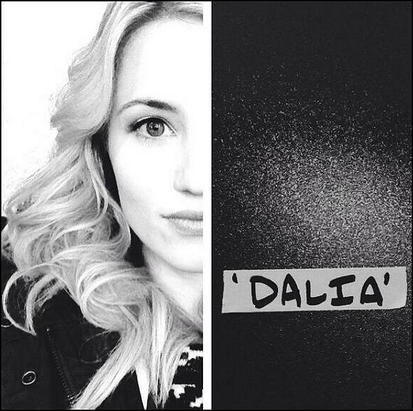 Dianna est ce moment sur le set d'un nouveau film, Zipper dans lequel elle interprète une dénommée Dalia !