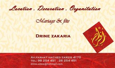 Conctat location decoration oranitation mariage et for Zarzis decor cuisine
