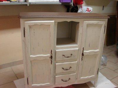Meuble shabby chic la renovation de meubles sans le decapage - Meuble style shabby ...
