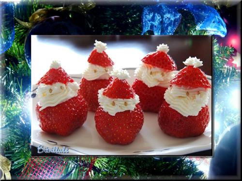 les fraises noel dessert rien que pour les enfants profitons de chaque instant