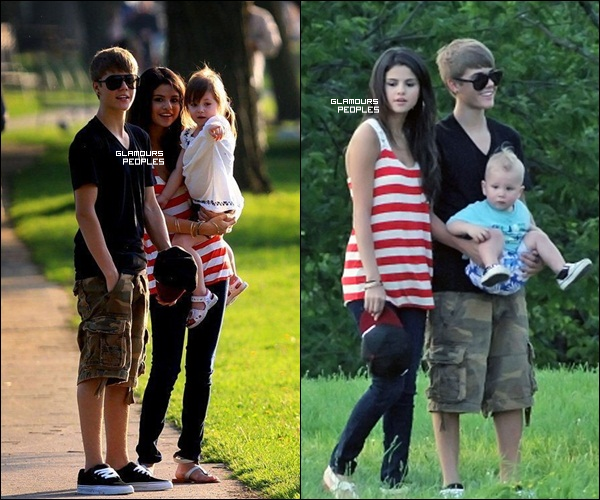 01 juin 2011 selena gomez au parc avec la famille de son petit ami justin - Selena gomez et sa famille ...