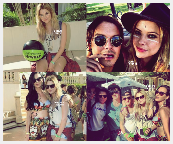 ᅠ 13 Avril 2013 : Ashley Benson à la fête McDonald`s Bootsy Bellows House Pool Party en Californie ᅠ
