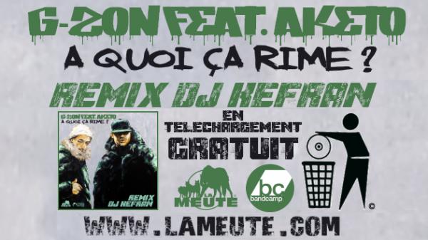 """T�L�CHARGEZ GRATUITEMENT LE NOUVEAU REMIX IN�DIT FEAT. AKETO (SNIPER) PRODUIT PAR DJ KEFRAN (LA MEUTE / THA LOOSE BROTHERZ DJ'S) EXTRAIT DE L'ALBUM A VENIR """"MUSIQUE NUISIBLE REMIX"""""""