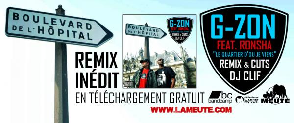 """NOUVEAU REMIX IN�DIT R�ALIS� PAR DJ CLIF """"LE QUARTIER D'O� JE VIENS"""" FEAT. RONSHA EN T�L�CHARGEMENT GRATUIT !"""