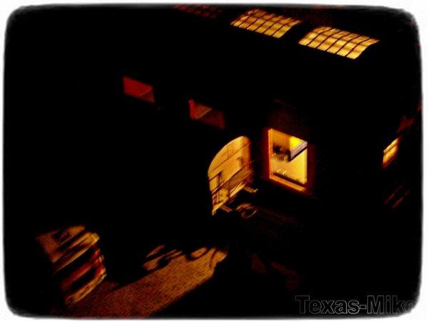 model diorama bei nacht