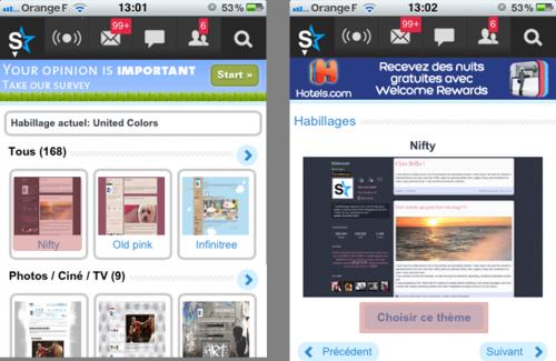 Comment changer l'habillage de mon blog depuis mon mobile ?