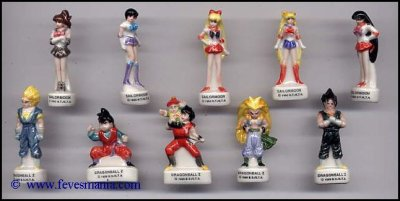 fève DBZ et Sailormoon