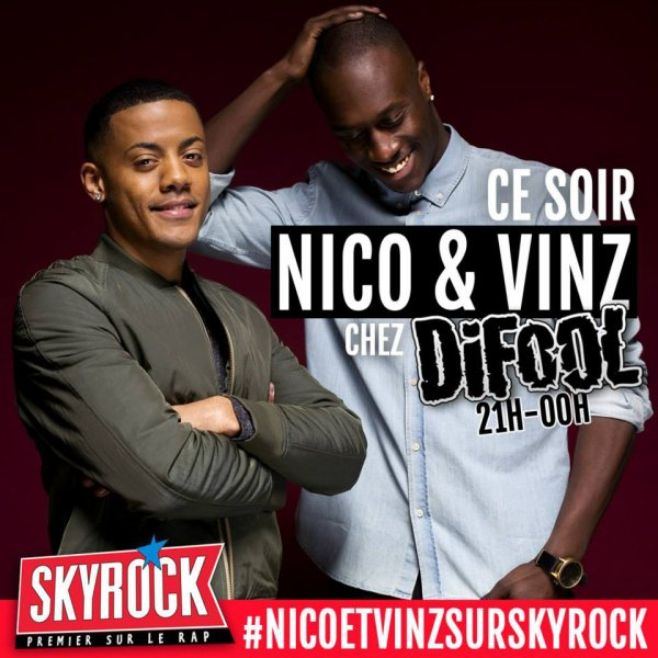 Nico & Vinz d�barquent ce soir chez Difool !