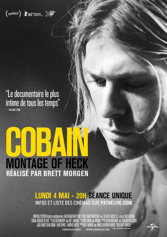 Cobain montage of heck, projections du 6 au 12 mai