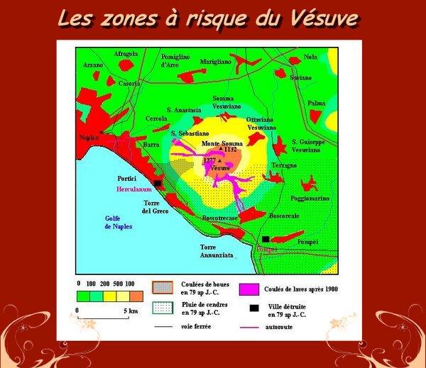 Carte Vesuve Villes Autour