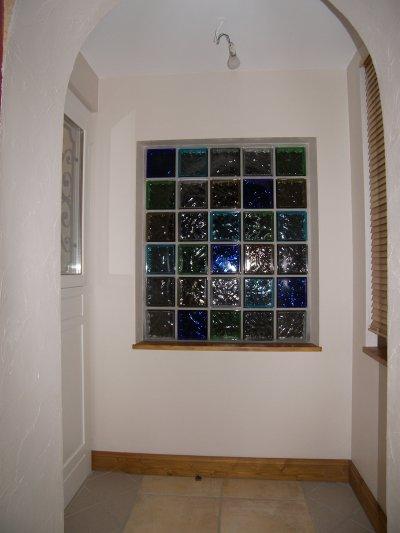 Brique de verre d pose ancienne porte d 39 entr e maconnerie en brique - Poser des briques de verre ...