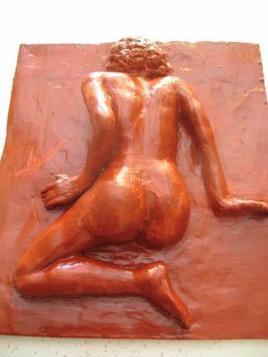 Sculpture Un Aplat Peinture Sur Bois