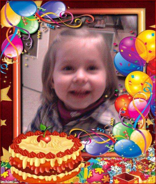 Joyeux anniversaire a ma petite fille pour ses 2 ans bisous princesse papy serrai fier de toi - Anniversaire fille 2 ans ...