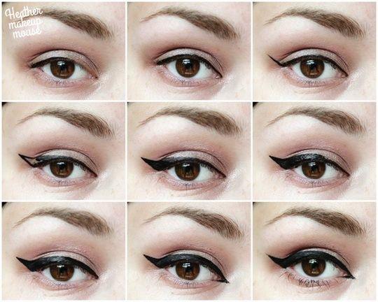 Tuto tracer un trait d 39 eye liner blog de xxlamodelxx - Comment faire un trait d eye liner ...