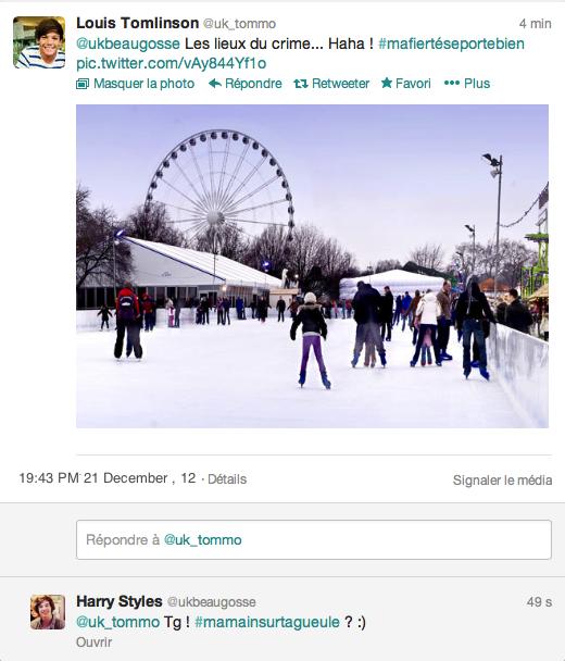 Tweet num�ro 2) - Louis � Harry