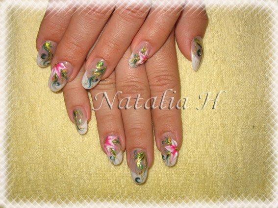 Pose d 39 ongles en r sine d co en peinture blog de ongle natalia for Peinture resine deco