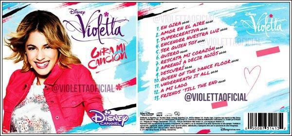 Le nouveau cd de violetta mon blog parle de disney violetta - Violetta chanson saison 3 ...
