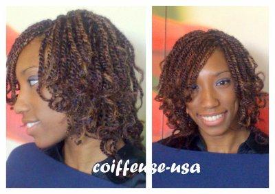 coiffure africaine tresse vanille