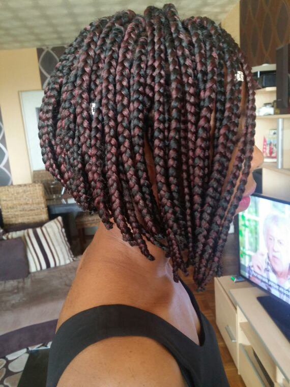Box braids carré plongeant