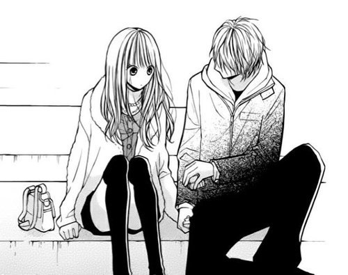 Image manga couple noir et blanc 9 kiseryotawife - Dessin manga couple ...