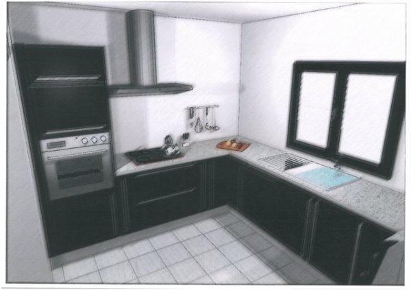 notre future cuisine hygena notre future maison par bast a. Black Bedroom Furniture Sets. Home Design Ideas