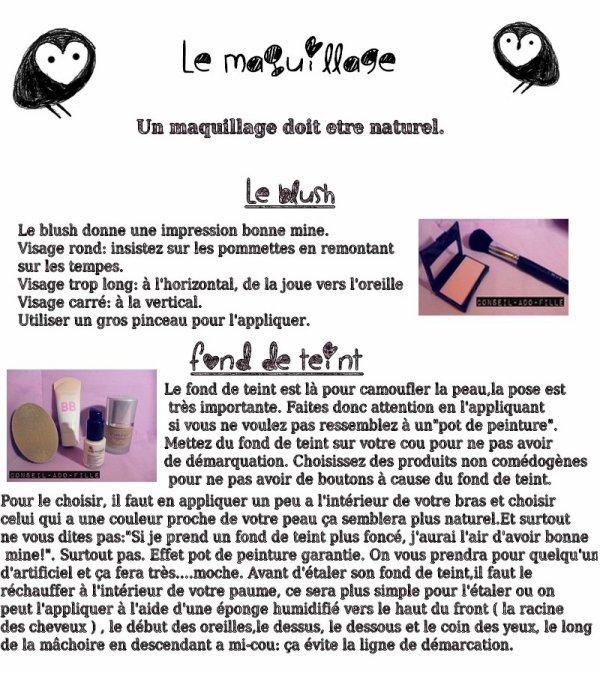 Blog de conseil ado fille page 3 des conseils mode - Utilisation pinceaux maquillage ...