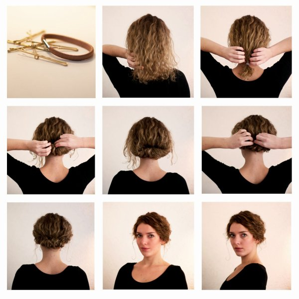 Tuto coiffure cheveux carre long