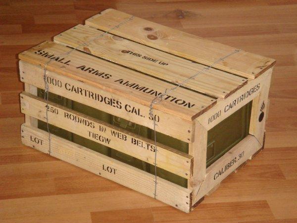 conception d 39 une caisse en bois munitions cal 30. Black Bedroom Furniture Sets. Home Design Ideas
