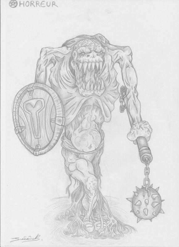 Articles de jeragorn tagg s dessin de cr ature magiques - Dessin horreur ...