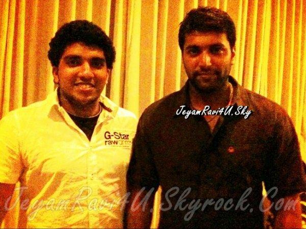 jeyam ravi with fan