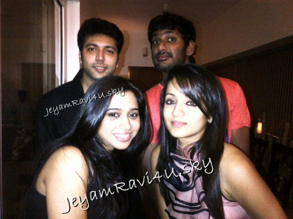Jeyam RAVI personal pics with wife