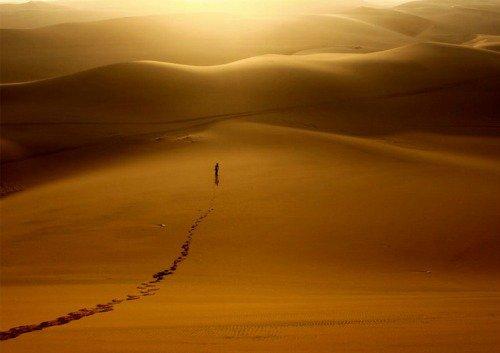 Homme gay dans le désert