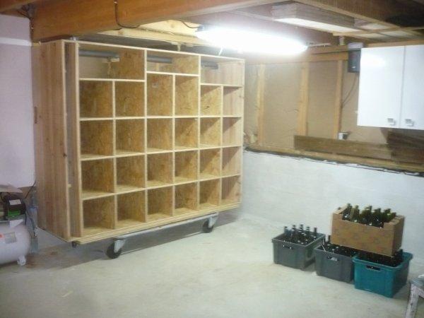 Fabrication dun casier a bouteille sur roulette la menuiserie meuble ma vie - Fabriquer casier bouteille ...