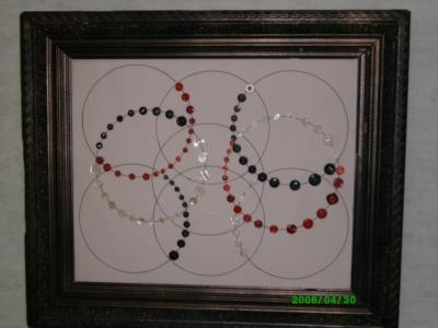 tableau fait avec des boutons les creations de nelly. Black Bedroom Furniture Sets. Home Design Ideas