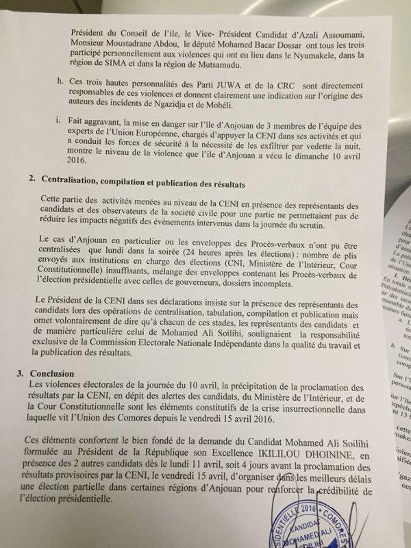 Les �lections pr�sidentielles 2016 aux Comores